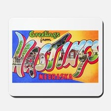 Hastings Nebraska Greetings Mousepad