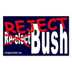 Reject Bush Rectangle Sticker