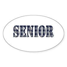Blue Plaid Pattern Senior Decal