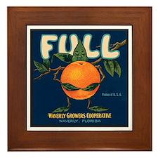 Orange Man Framed Tile