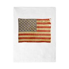 Vintage American Flag Twin Duvet