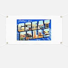 Great Falls Montana Greetings Banner