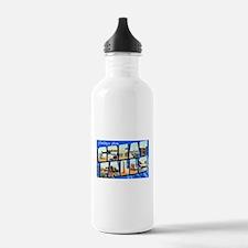 Great Falls Montana Greetings Water Bottle