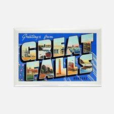 Great Falls Montana Greetings Rectangle Magnet