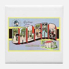 Galena Illinois Greetings Tile Coaster