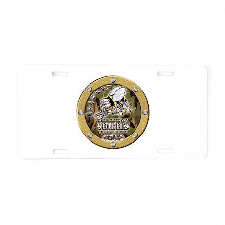 US Navy Seabees Porthole Camo Aluminum License Pla