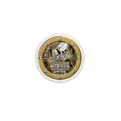 US Navy Seabees Porthole Camo Mini Button (10 pack