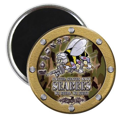 US Navy Seabees Porthole Camo Magnet