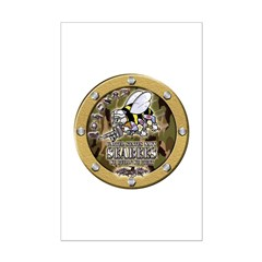 US Navy Seabees Porthole Camo Posters