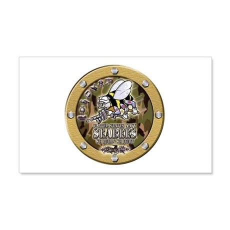 US Navy Seabees Porthole Camo 20x12 Wall Decal