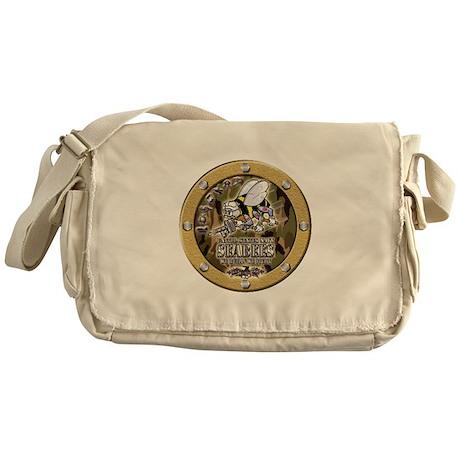 US Navy Seabees Porthole Camo Messenger Bag