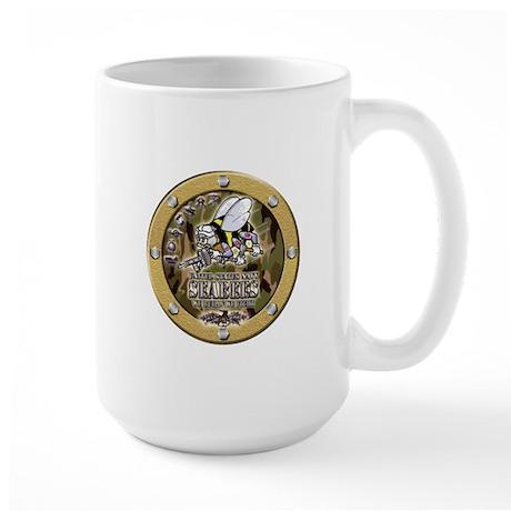 US Navy Seabees Porthole Camo Large Mug