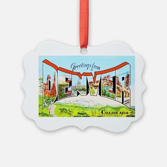 Denver Colorado Greetings Ornament