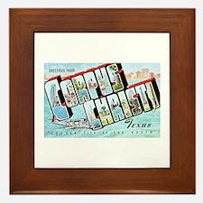 Corpus Christi Texas Greetings Framed Tile