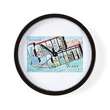 Corpus Christi Texas Greetings Wall Clock