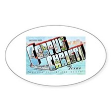 Corpus Christi Texas Greetings Decal