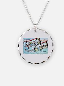 Corpus Christi Texas Greetings Necklace