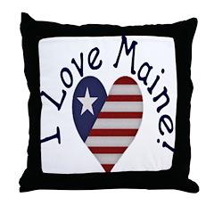 I Love Maine! Throw Pillow