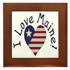 I Love Maine! Framed Tile