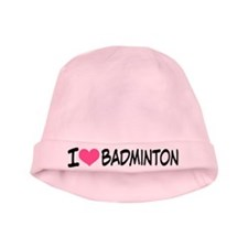 I Heart Badminton baby hat