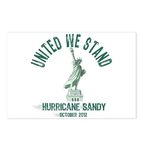 Hurricane Sandy Statue Postcards (Package of 8)