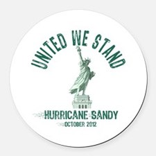 Hurricane Sandy Statue Round Car Magnet