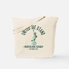 Hurricane Sandy Statue Tote Bag