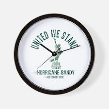 Hurricane Sandy Statue Wall Clock