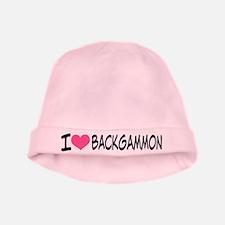 I Heart Backgammon baby hat