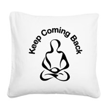 12 Step Meditation Square Canvas Pillow