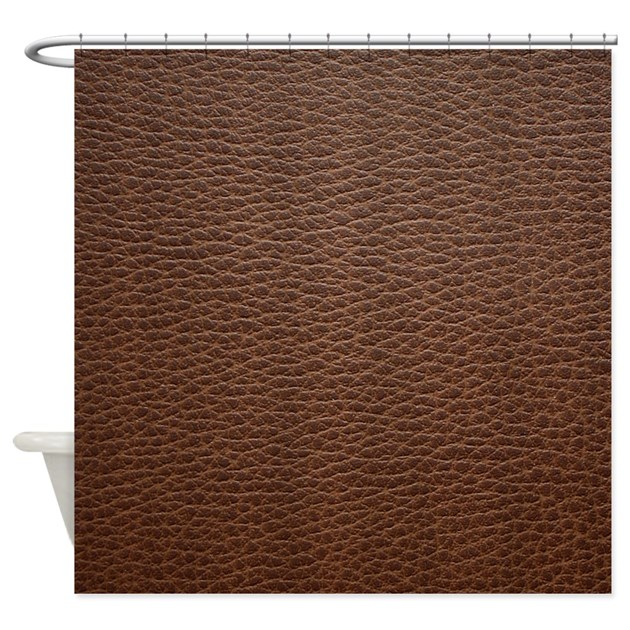 Western Leather Shower Curtain By TheCafeMarket