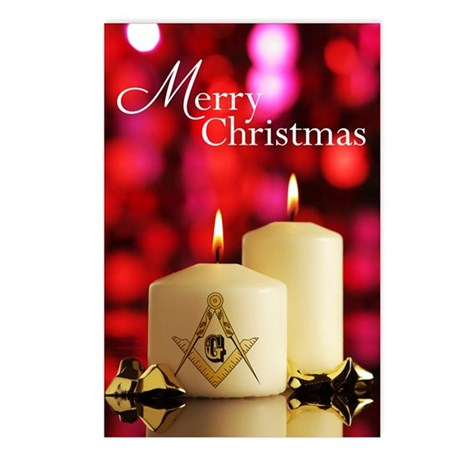 Masonic Christmas Postcards (Package of 8)