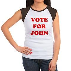 Vote For John Women's Cap Sleeve T-Shirt