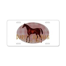 The Darley Arabian Aluminum License Plate