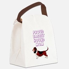 Proud basset hound mom Canvas Lunch Bag