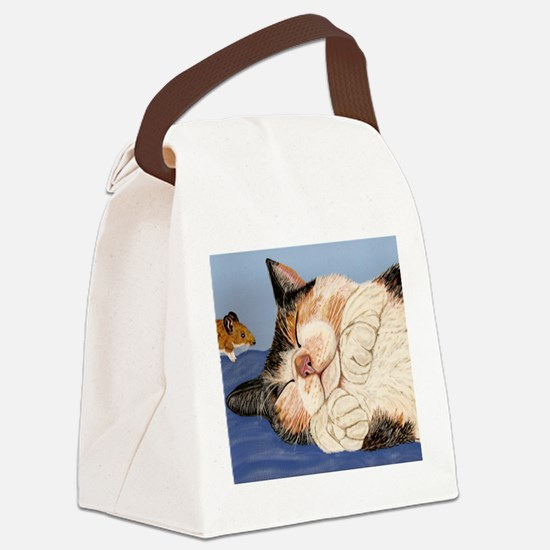 Catnapping Canvas Lunch Bag