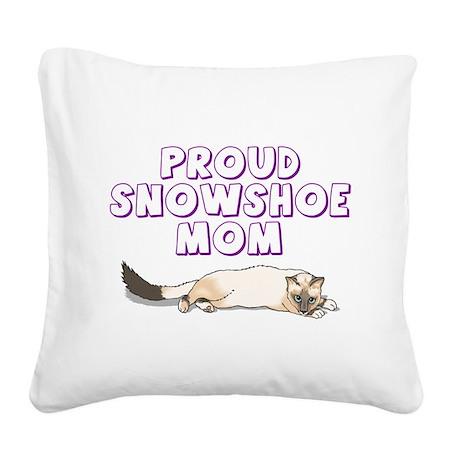 snowshoe.png Square Canvas Pillow