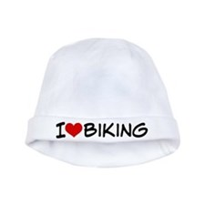 I Heart Biking baby hat