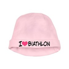 I Heart Biathlon baby hat