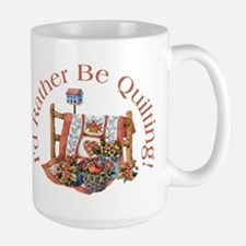 Rather Be Quilting Ceramic Mugs