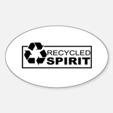 Recycled Spirit Oval Decal