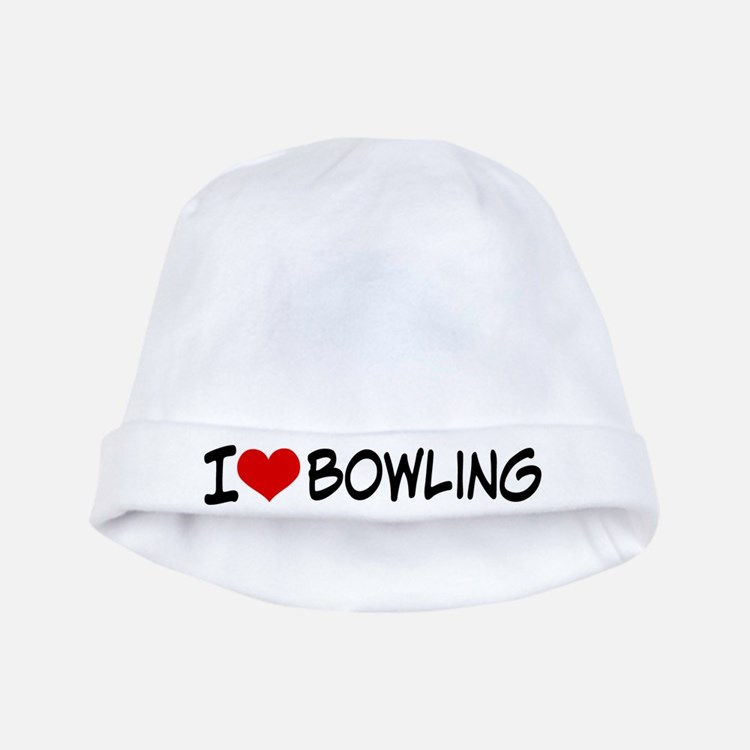 I Heart Bowling baby hat