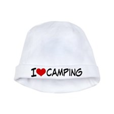I Heart Camping baby hat
