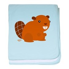 canadian beaver baby blanket