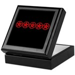 Pentagram Red As Above Keepsake Box