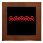 Pentagram Red As Above Framed Tile