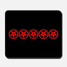 Pentagram Red So Below Mousepad