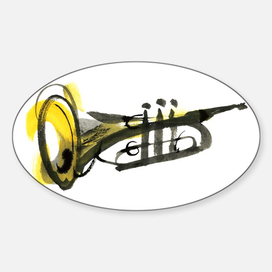 Trumpet Sticker (Oval)