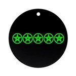 Pentagram Green As Above Ornament (Round)