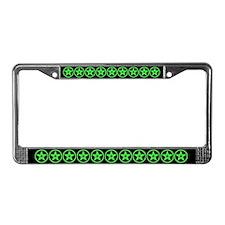Pentagram Green As Above License Plate Frame